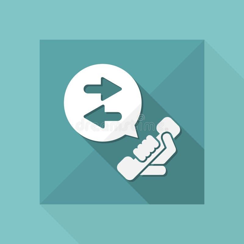 Conversazione telefonica royalty illustrazione gratis