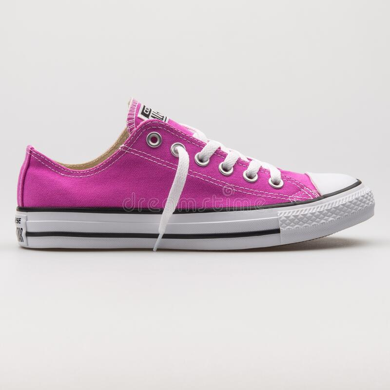 Converse Chuck Taylor All Star OX Magenta And White Sneaker ...