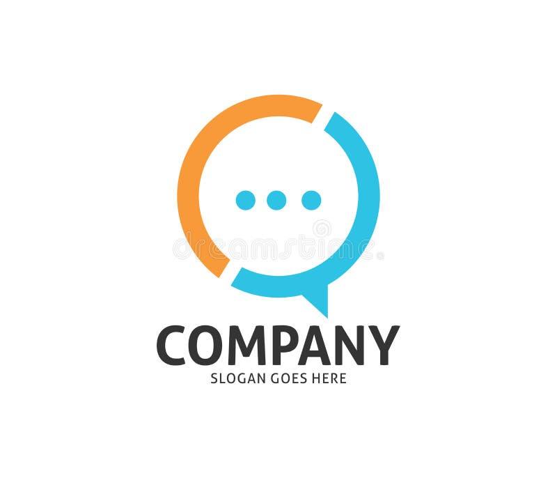 Converse o logotipo social do vetor da aplicação dos meios da mensagem da rede ilustração stock