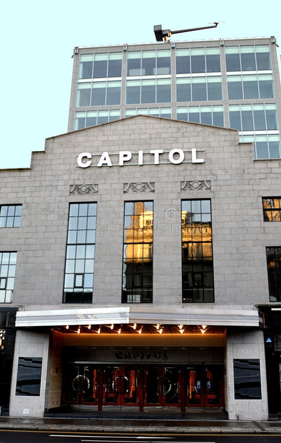 Conversion of Capitol Cinema to Office Block, Aberdeen, Scotland royalty free stock images