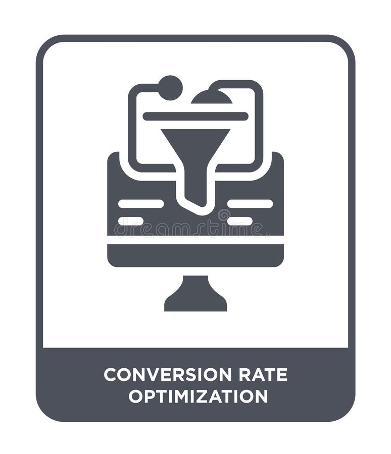 conversion rate optimization icon in trendy design style. conversion rate optimization icon isolated on white background. vector illustration