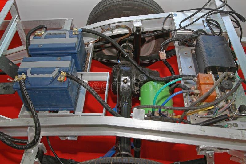 Conversione dell'automobile elettrica fotografie stock libere da diritti