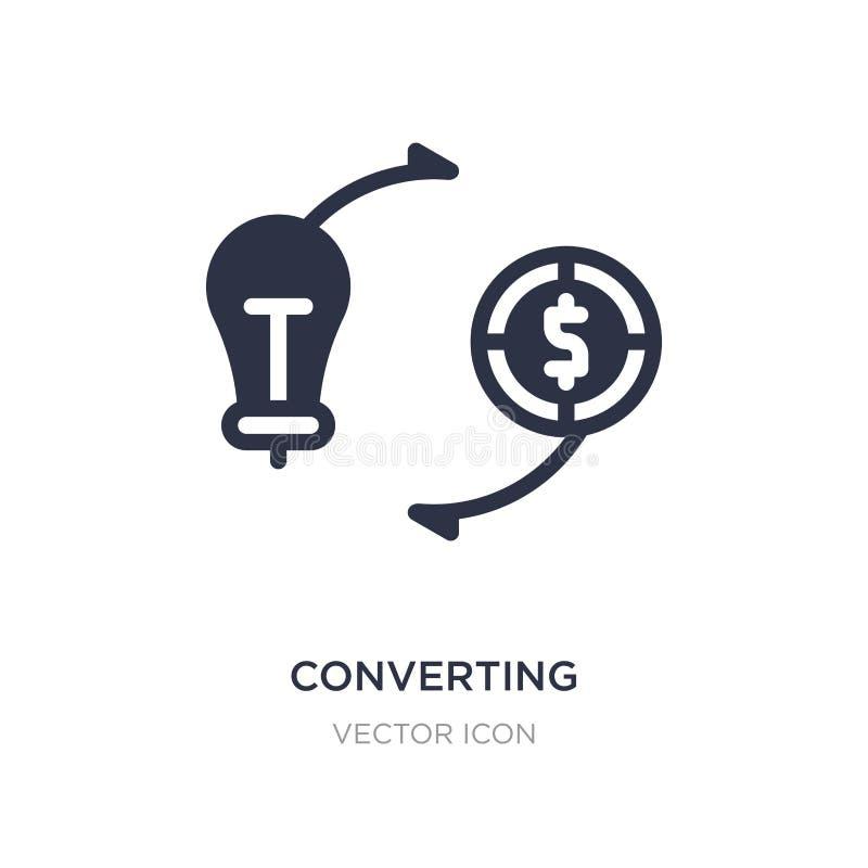 conversione delle idee nell'icona dei soldi su fondo bianco Illustrazione semplice dell'elemento dal concetto di affari illustrazione di stock