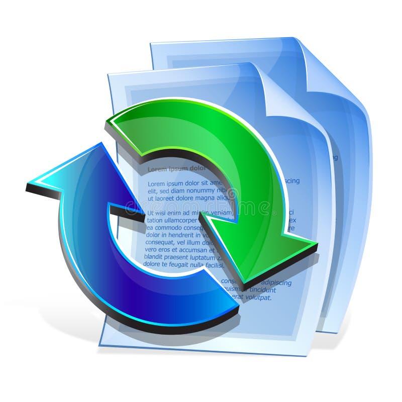 Conversione di formato di documento da una ad un altro. royalty illustrazione gratis