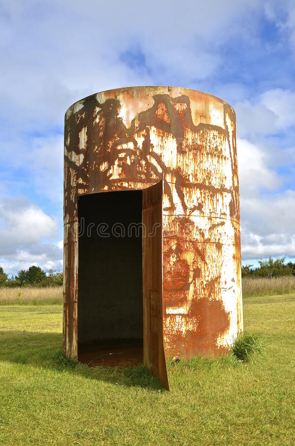 Download Converted Rusty Oil Barrel Into Yard Storage Shed Stock Image    Image Of Welder,