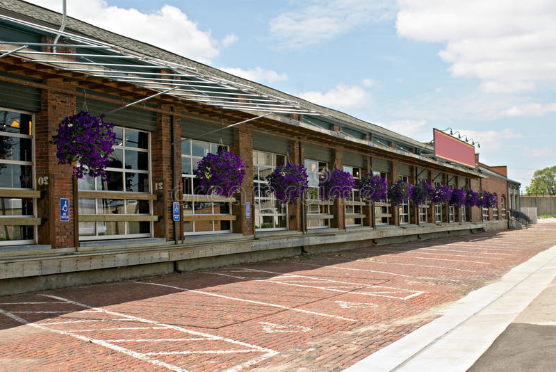 Download Converted Train Depot Royalty Free Stock Image - Image: 10135306