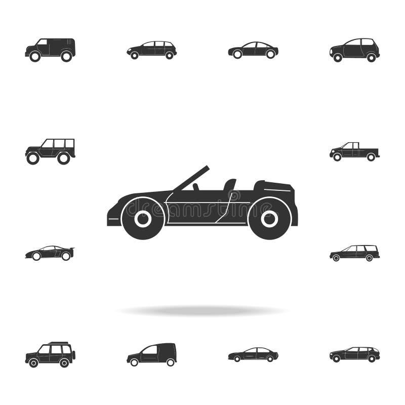 Convertibel Sportwagenpictogram Gedetailleerde reeks auto'spictogrammen Premie grafisch ontwerp Één van de inzamelingspictogramme vector illustratie