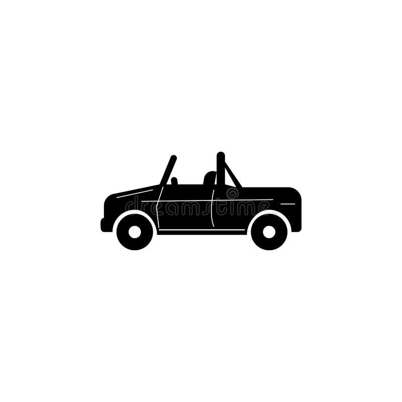 Convertibel Suv-autopictogram Autotype eenvoudig pictogram Het pictogram van het vervoerelement Het grafische ontwerp van de prem royalty-vrije illustratie