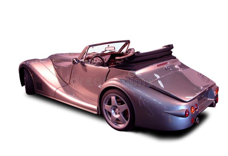 Convertibel - zilveren luxe royalty-vrije stock afbeelding