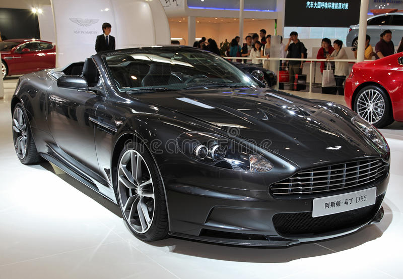 Convertibile di Aston Martin DBS fotografia stock
