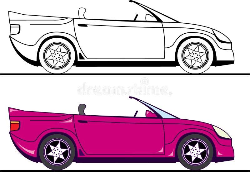 convertible ilustración del vector