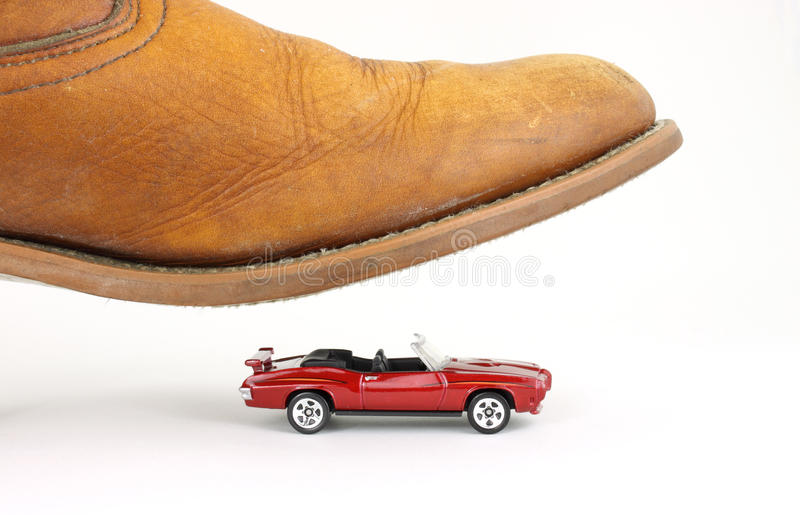 Download Convertible Car About To Be Stepped On Stock Photo - Image: 10679326
