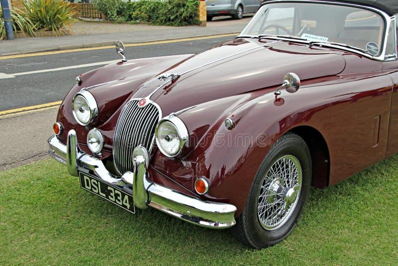 Convertible clássico do jaguar xk150 do vintage imagens de stock royalty free