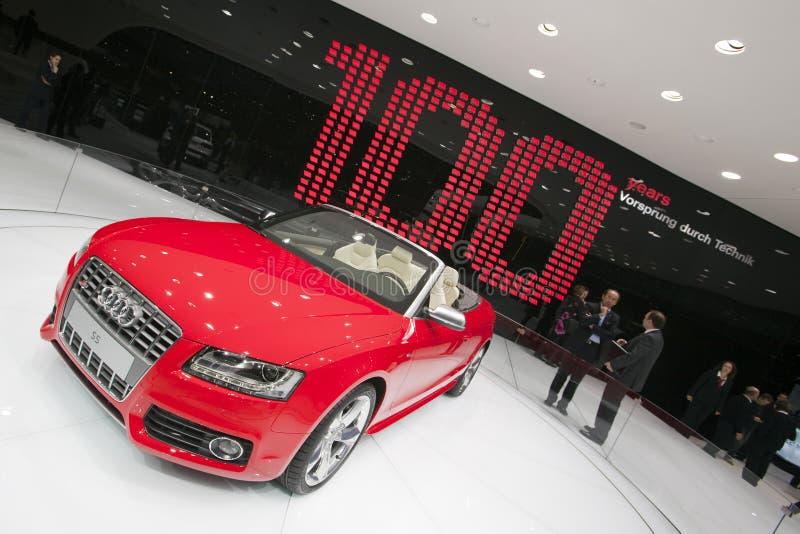 Convertible de Audi S5 - demostración 2009 de motor de Ginebra foto de archivo libre de regalías