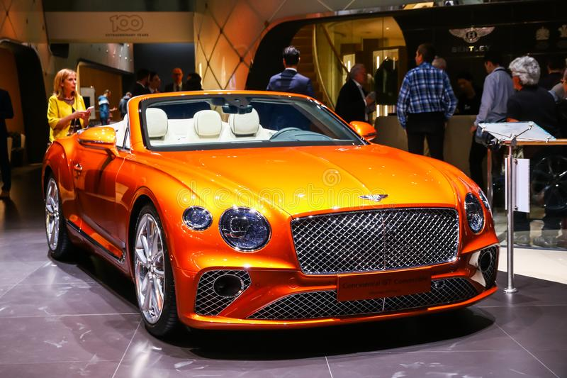 Convertible de Bentley Continental GT foto de stock royalty free