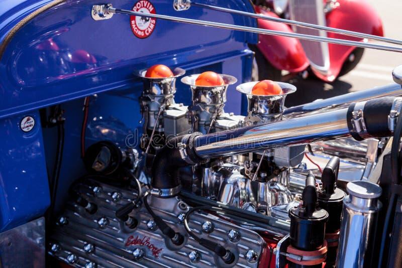 Convertible de Ford A-V8 do azul 1929 fotos de stock