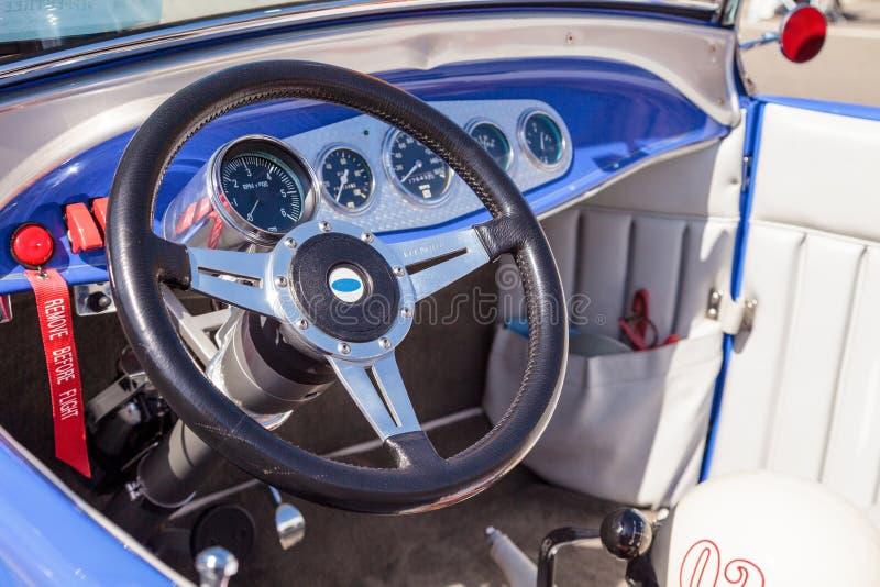 Convertible de Ford A-V8 do azul 1929 fotografia de stock royalty free