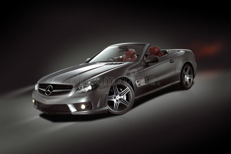 Convertible de Mercedes-Benz SL imagem de stock royalty free