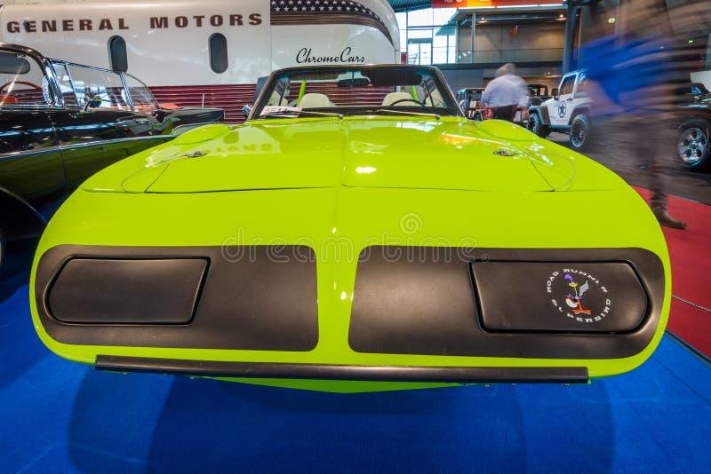 Convertible de Plymouth Superbird do carro de corridas (produzido em uma única cópia), 1970 imagem de stock royalty free