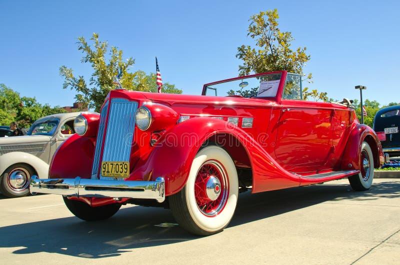 Convertible 1936 del modelo 1404 de Packard fotografía de archivo libre de regalías