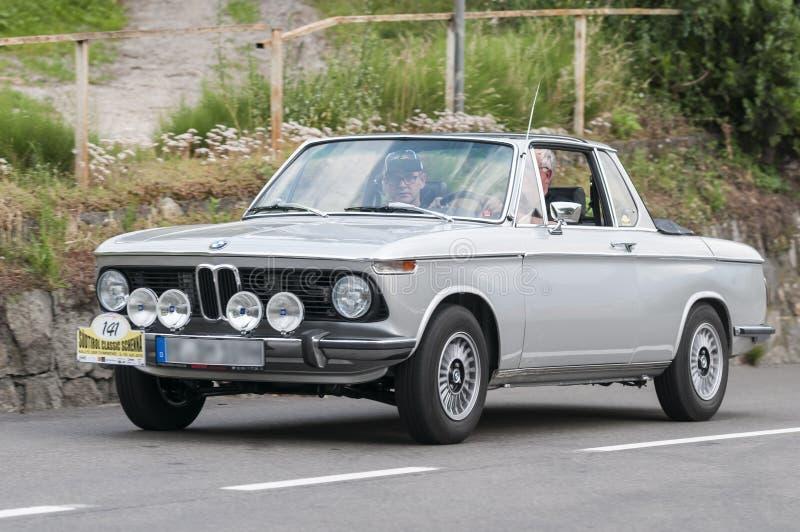 Convertible 2002 sul de Tirol Rallye 2016_BMW Targa foto de stock royalty free