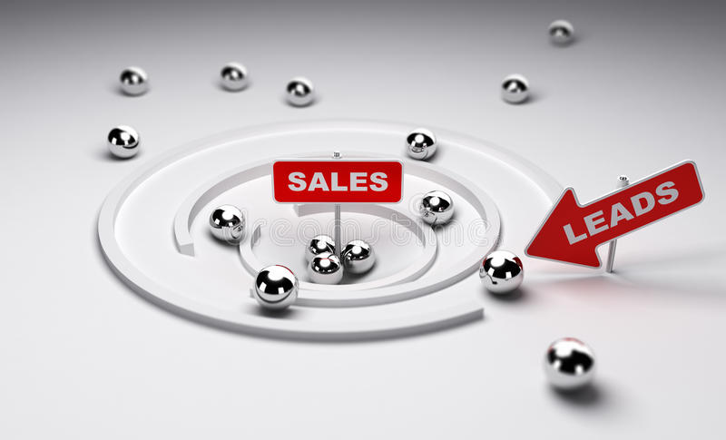 Converting Leads to Sales royalty free illustration