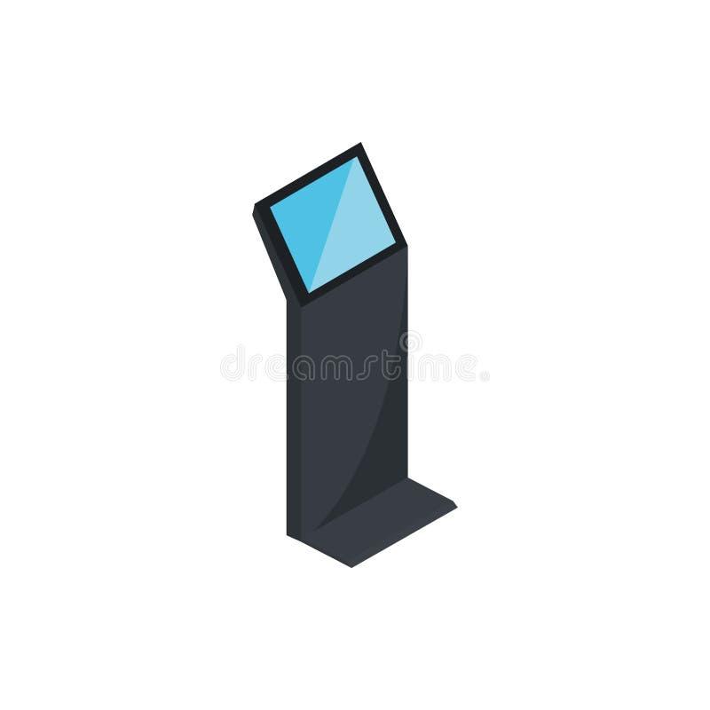 Convertir el dispositivo de hardware de la tecnología informática de servicio en isométrico stock de ilustración