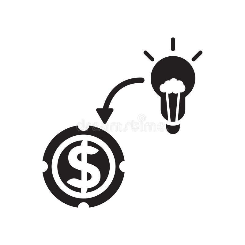 Convertissant des idées dans le signe et le symbole de vecteur d'icône d'argent d'isolement sur le fond blanc, convertissant des  illustration de vecteur