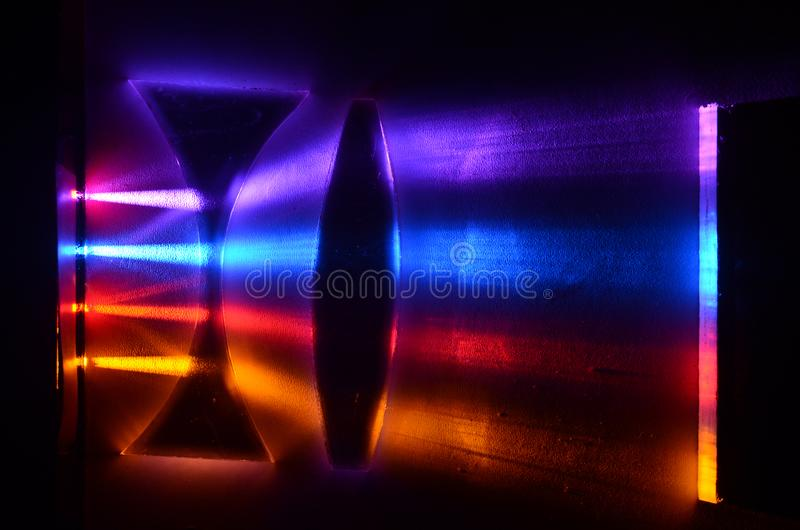 Convex and concave lens array stock photography