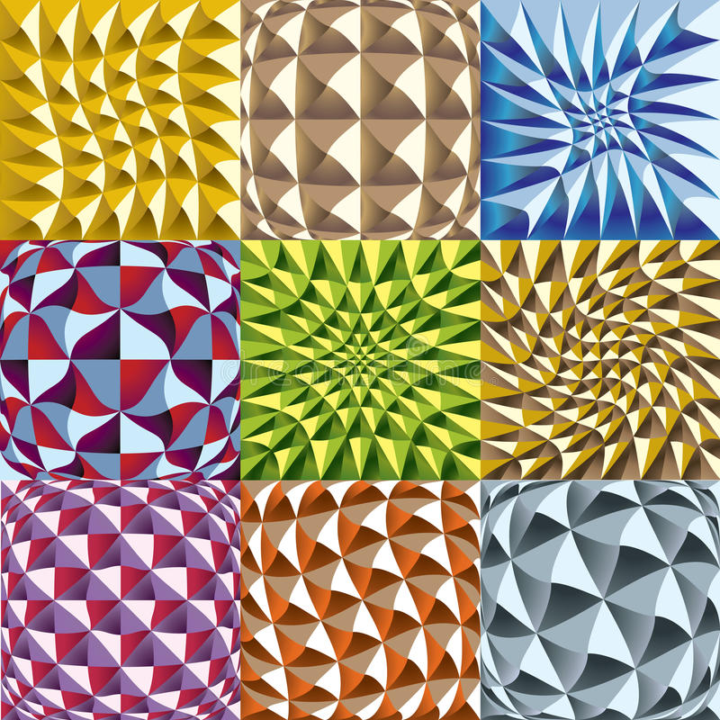 Download Convex Twisted Color Squares Patterns Stock Illustration - Illustration of texture, pattern: 18581882