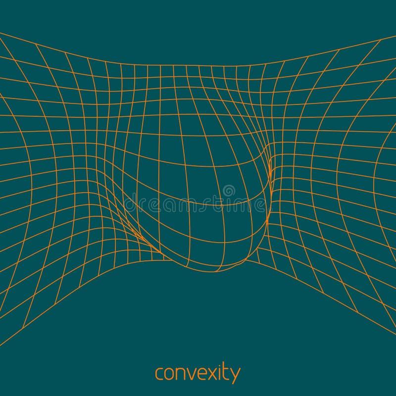 convexity Prosta abstrakcjonistyczna siatka z camber wektor royalty ilustracja