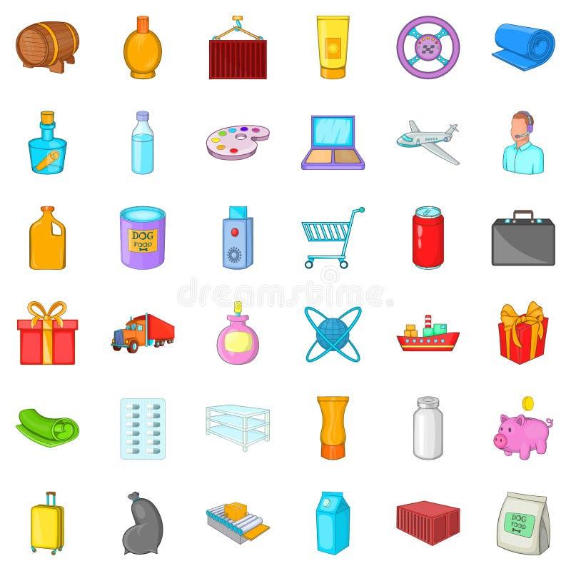 Conveyance icons set, cartoon style. Conveyance icons set. Cartoon set of 36 conveyance vector icons for web isolated on white background royalty free illustration