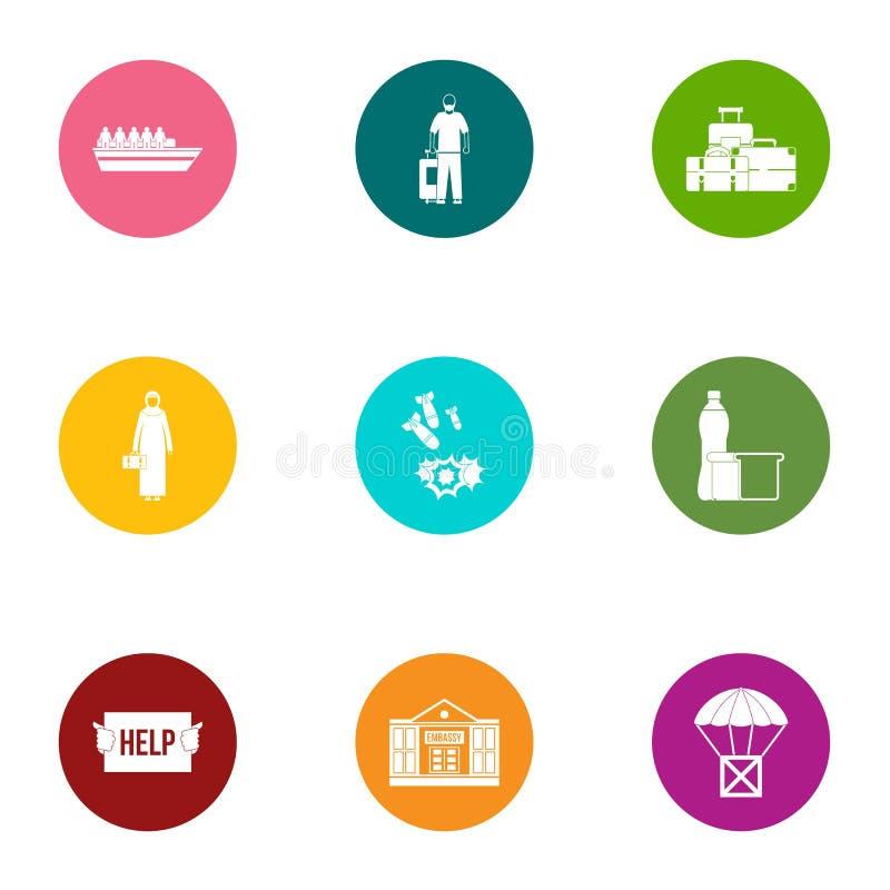 Conveyance icons set, flat style. Conveyance icons set. Flat set of 9 conveyance vector icons for web isolated on white background vector illustration