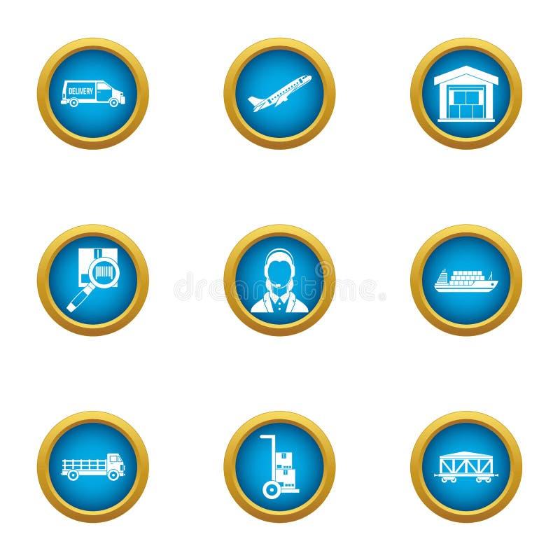 Conveyance icons set, flat style. Conveyance icons set. Flat set of 9 conveyance vector icons for web isolated on white background stock illustration