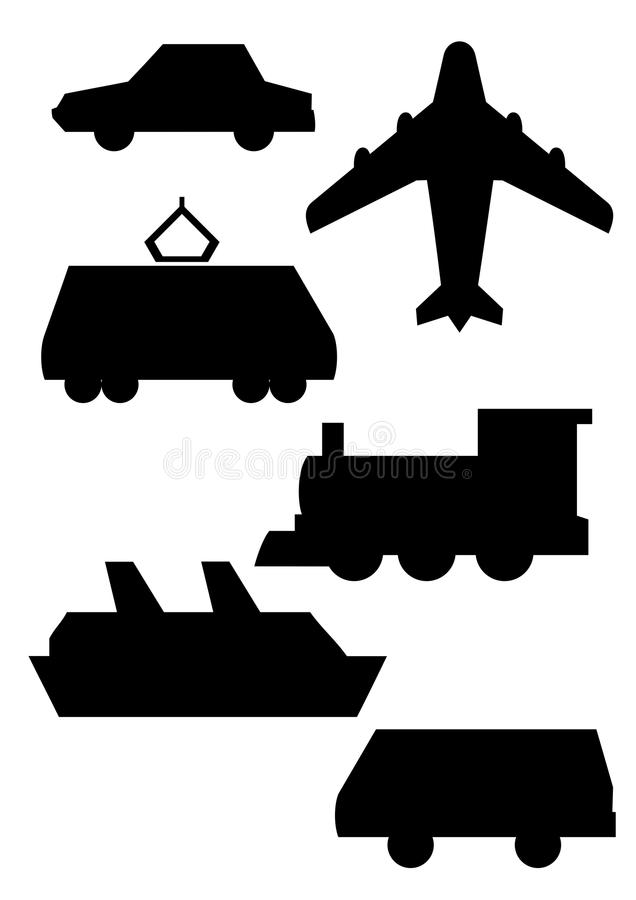Download Conveyances stock vector. Image of outline, express, aircraft - 13994269