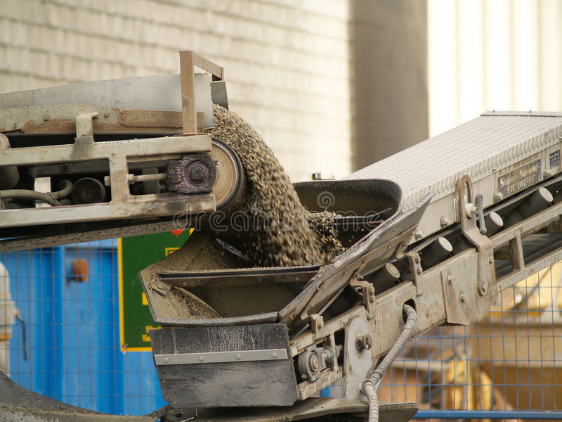 Download Conveyor Belt On A Cement Mixe Stock Photo - Image: 2504554