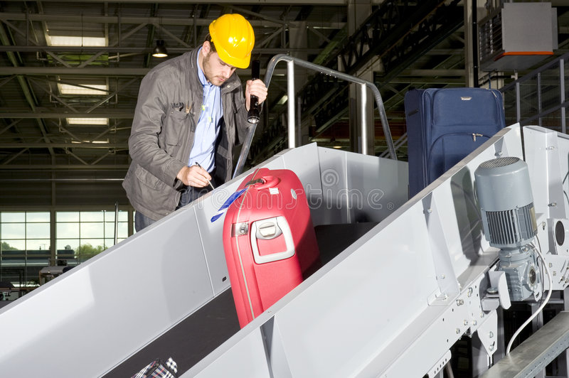 Download Conveyor belt check point stock photo. Image of airport - 6425046