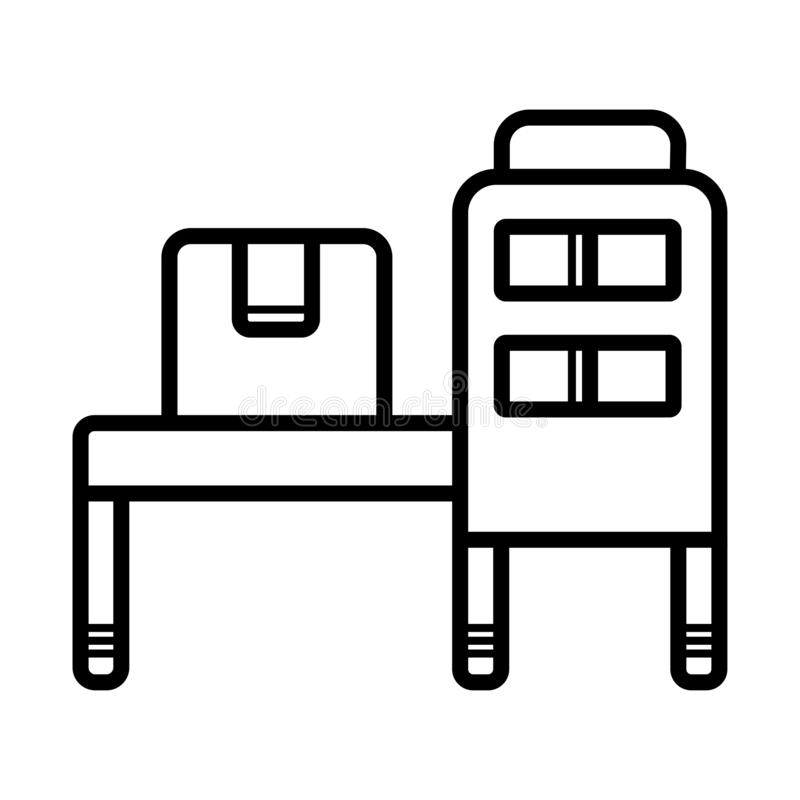 Conveyor Belt Icon stock illustration