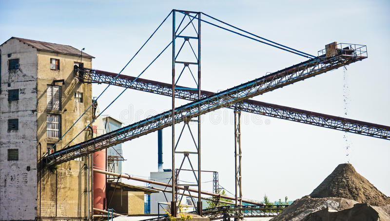 Download Conveyor belts stock image. Image of mining, silhouette - 29013571