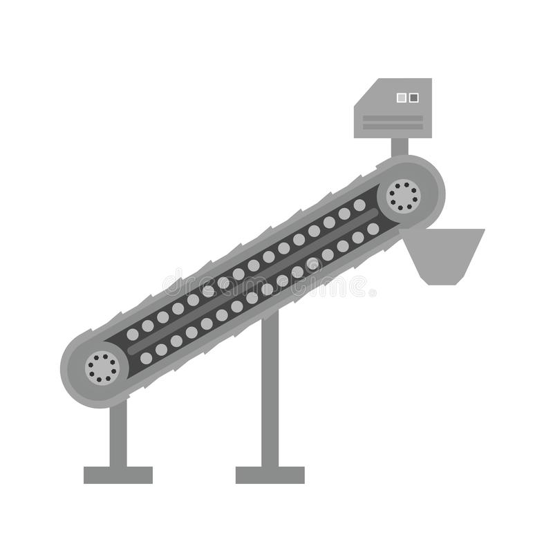 Conveyor III. Conveyor, manufacturing, machine icon image. Can also be used for Industrial Process. Suitable for mobile apps, web apps and print media vector illustration