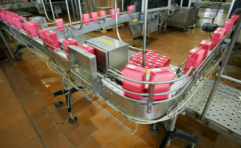Download Conveyor line stock photo. Image of drink, cold, engineering - 50045604