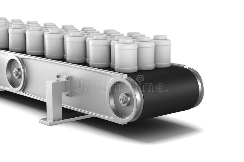 Conveyor on white background. Isolated 3D illustration vector illustration
