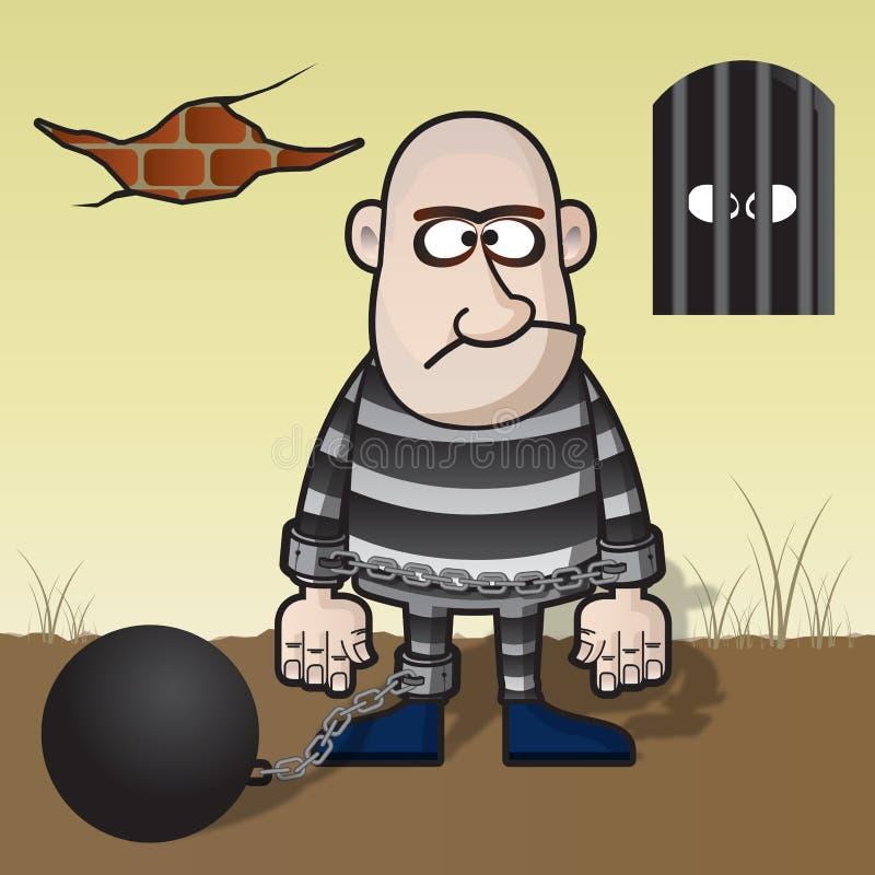 Convict ilustração do vetor