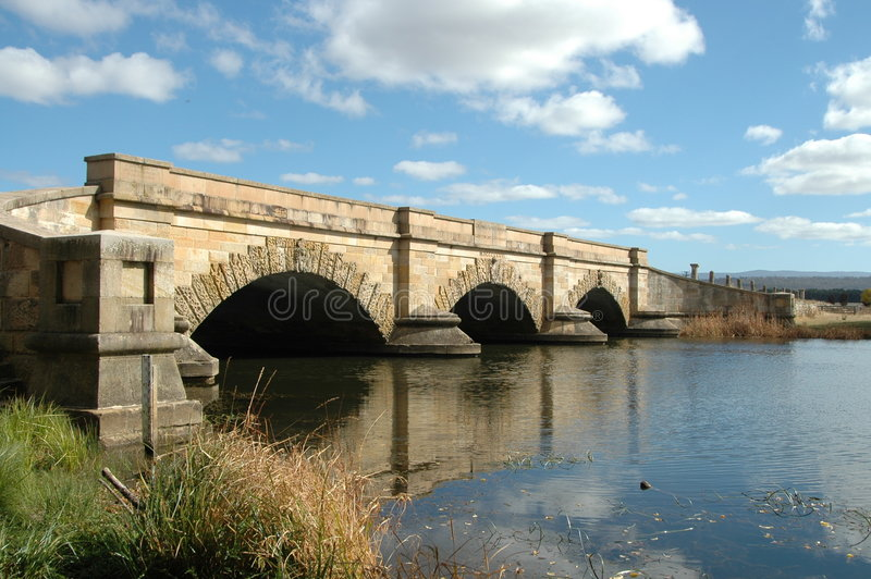 Convict-built bridge. Ross, Tasmania, Australia royalty free stock images