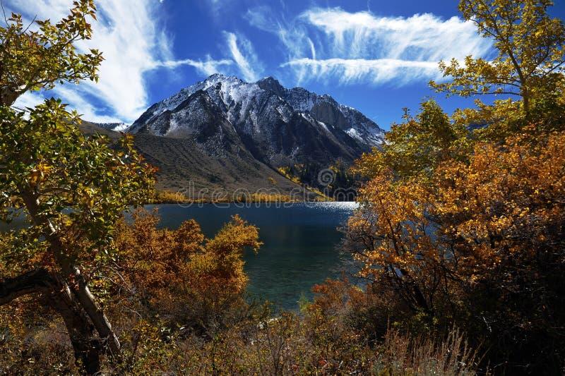 Convict Lake, California. Fall in Convict Lake, California stock image