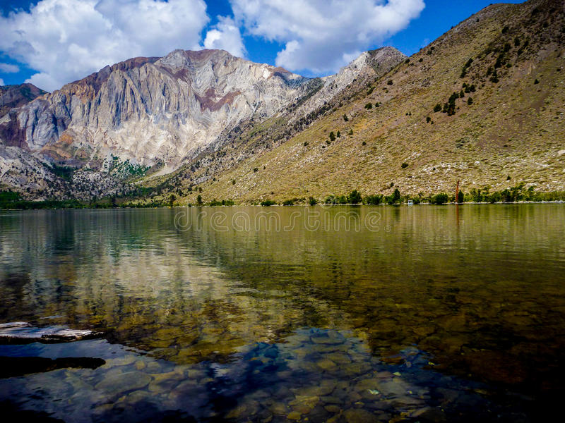 Convict Lake, California. Convict Lake located in the eastern Sierra Nevada Mountains, California royalty free stock image