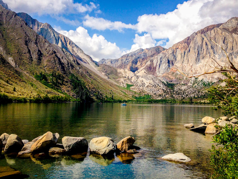 Convict Lake, California. Convict Lake located in the eastern Sierra Nevada Mountains, California stock images