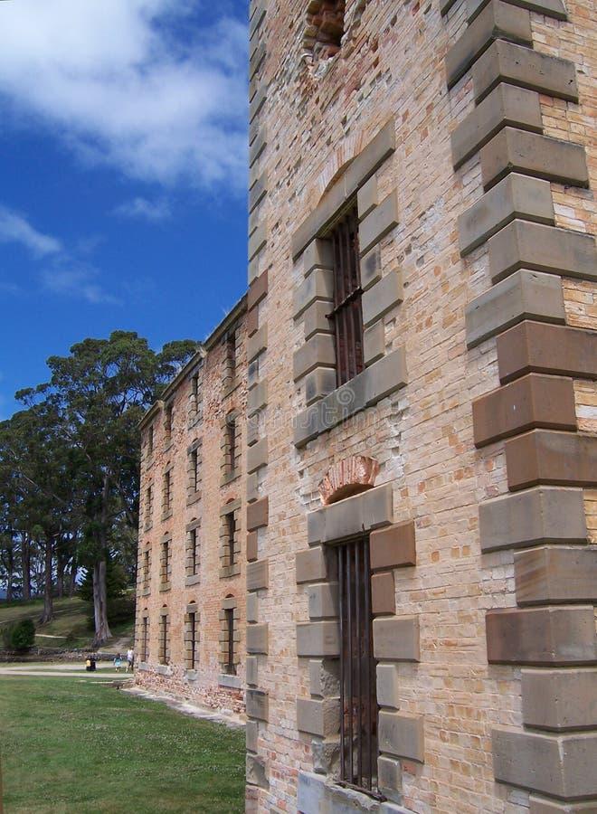Convict prison. Convict ruins at Port Arthur Tasmania Australia royalty free stock images