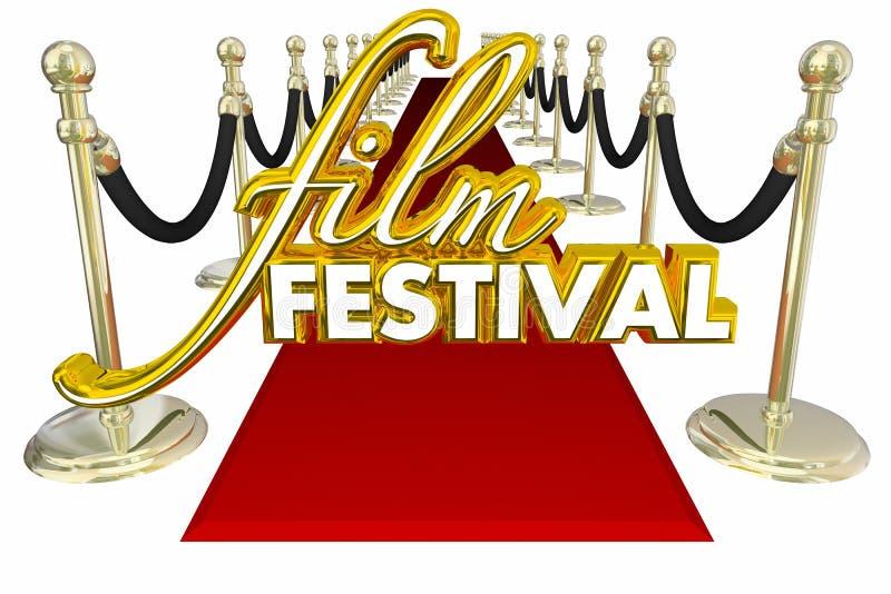 Convidado 3d Illustratio do VIP da premier do filme do tapete vermelho do festival de cinema ilustração do vetor