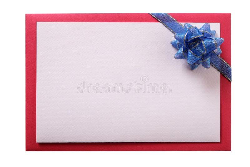 Convide o espaço branco isolado da cópia da cópia da curva do cartão espaço branco azul imagem de stock